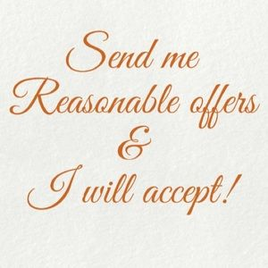 Reasonable offers will be accepted!